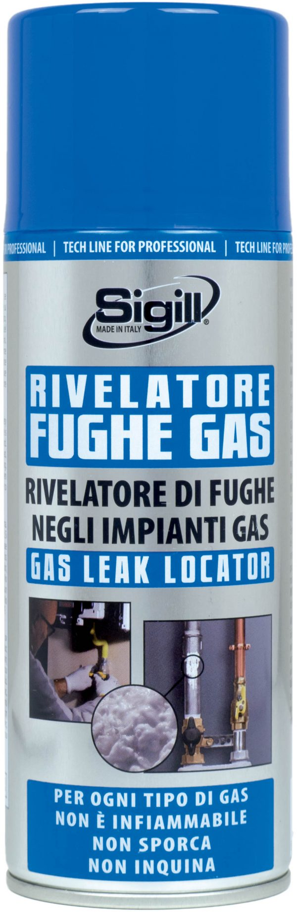 rivelatore gas, spray rivelatore fughe di gas