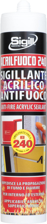 silicone acrilico antifuoco, silicone alte temperature