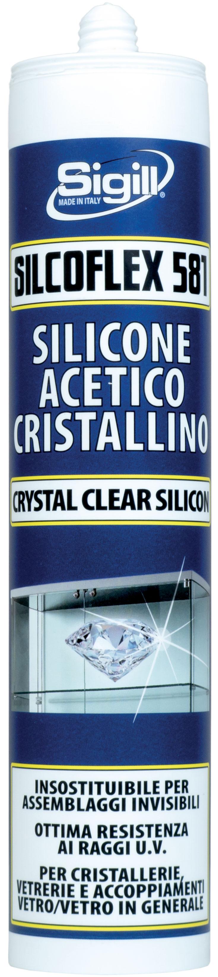 Adesivo Per Vetrai silcoflex 581 cristallino | prodotti | sigill