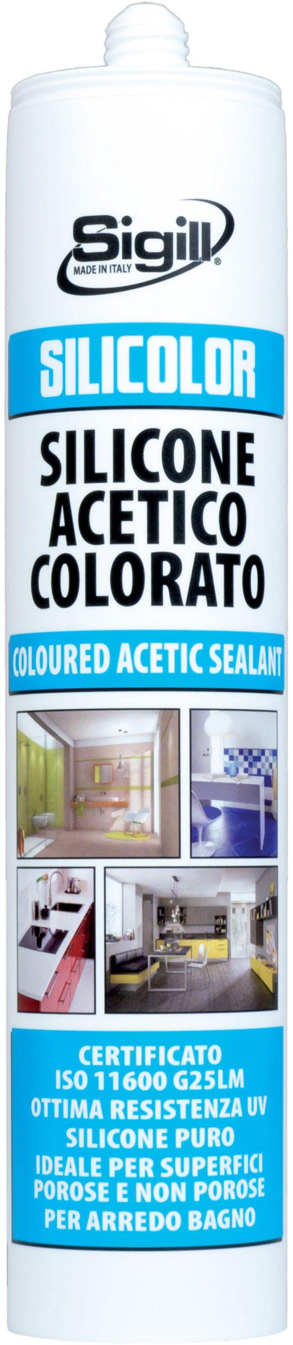 silicone acetico colorato