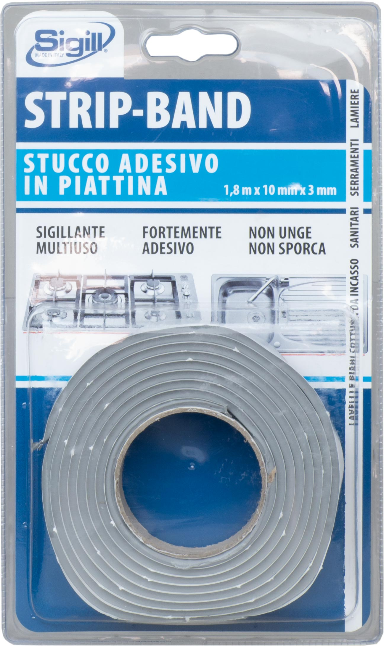 Stucco Per Piano Cottura strip band | blister | sigill